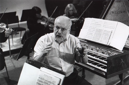 Ton Koopman in rehearsal with the Australian Chamber Orchestra 41K jpeg