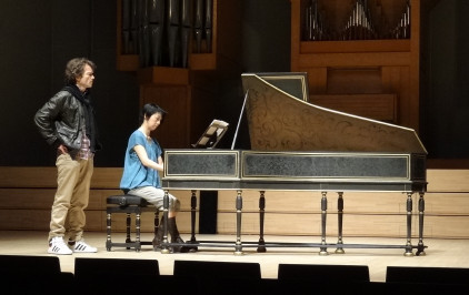 Christophe Rousset & Mayako Soné at the Marc Ducornet Colmar copy 33K jpeg