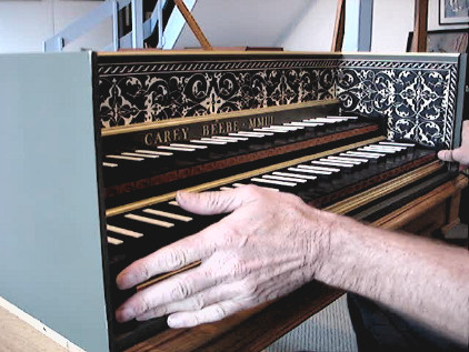 Quick harpsichord transposition 54K jpeg
